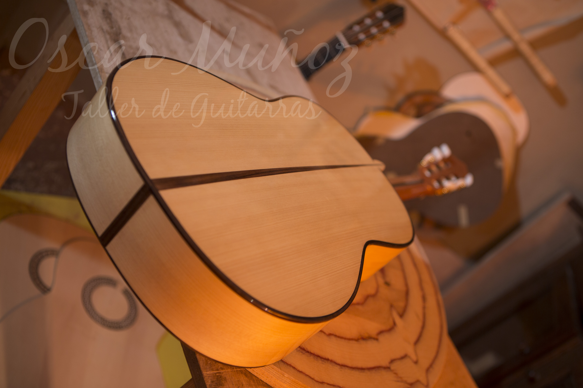 Artisan flamenco guitar